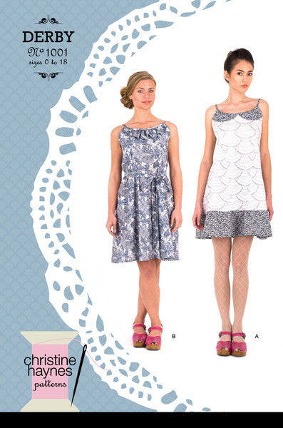 Christine Haynes Derby Dress Paper Sewing Pattern - Vintage Inspired Sundress
