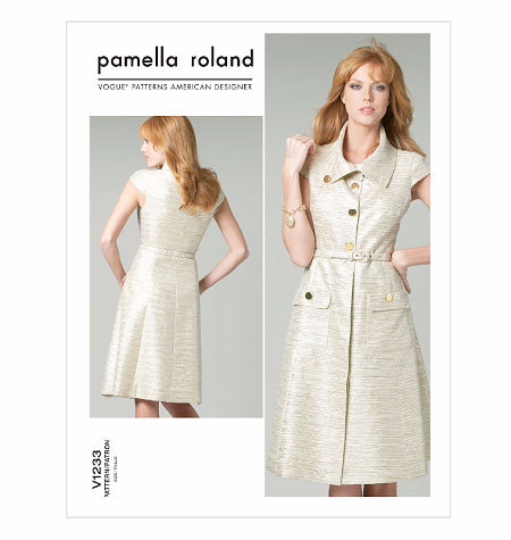 V1233 Vogue American Designer Pamella Roland Dress Sewing Pattern Vogue 1233 Out of Print