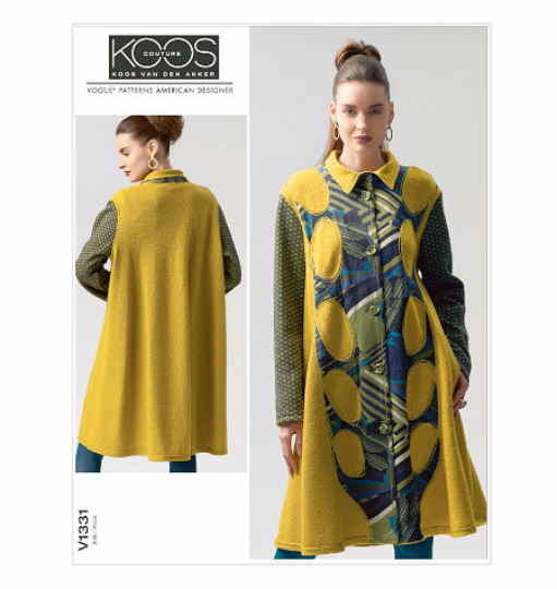 V1331 Koos Van Den Akker Coat Sewing Pattern Vogue 1331 Out of Print