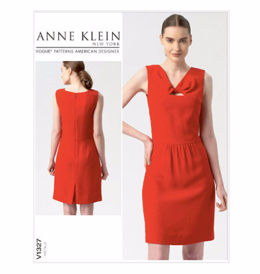 V1327 Vogue American Designer Anne Klein Dress Sewing Pattern Vogue 1427 Out of Print