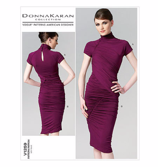 V1259 Vogue American Designer: Donna Karan Dress Sewing Pattern Vogue 1259 Out of Print