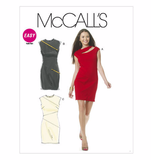 McCalls 6243 Misses Slash Dress Sewing Pattern M6243