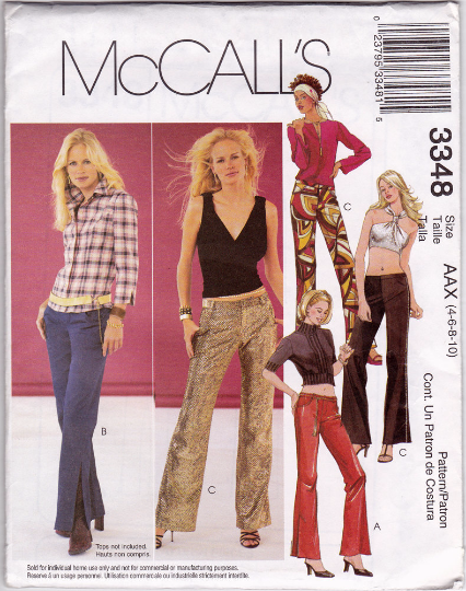 McCall's 3348 Sewing Pattern - Low Rise Pants