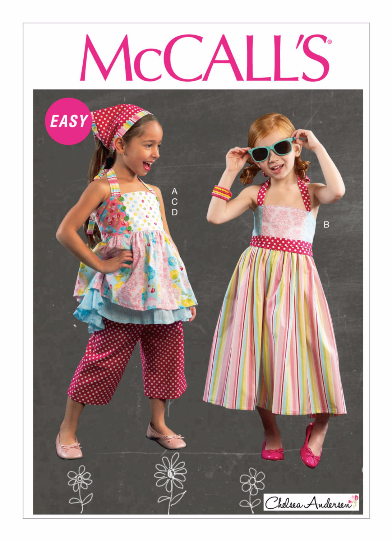 McCalls 6731 Sewing Pattern M6731 Girls Dress, Top and Pants