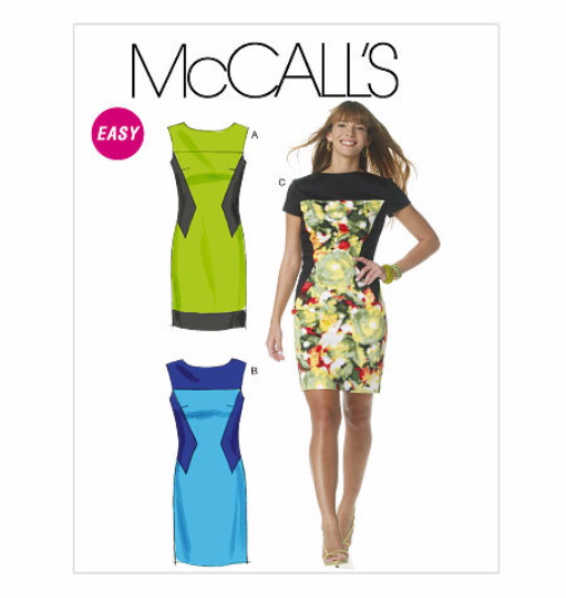 McCalls 6278 Misses Colorblock Dress Sewing Pattern M6278