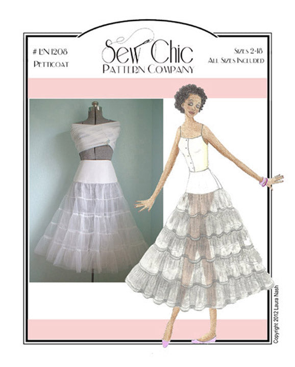 Crinoline Petticoat Sewing Pattern by Sew Chic Pattern Company