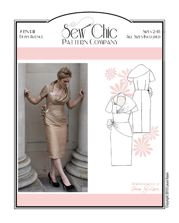 Fifth Avenue Dress Sewing Pattern by Sew Chic Pattern Company