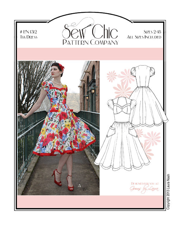 Tia Dress Sewing Pattern by Sew Chic Pattern Company
