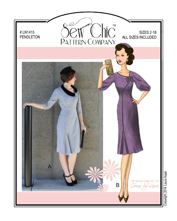 Sew Chic Pendleton Dress Paper Sewing Pattern by Sew Chic Pattern Company