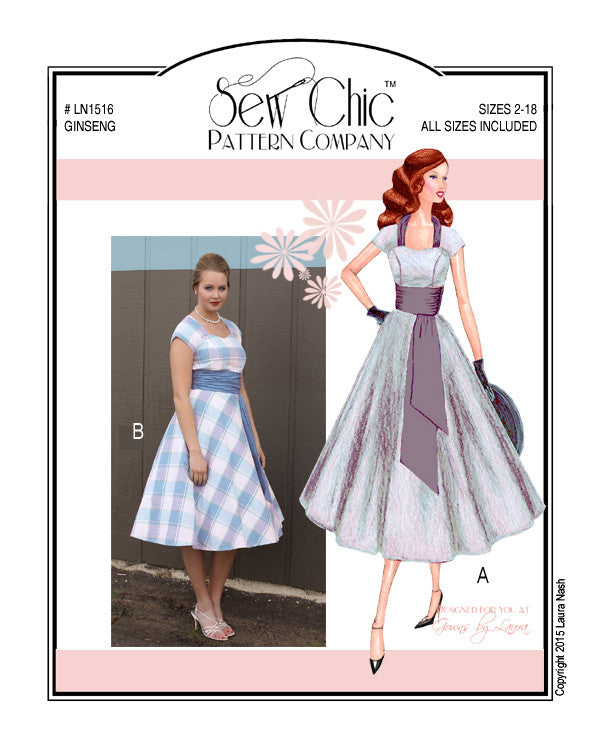 Ginseng Dress Sewing Pattern by Sew Chic Pattern Company