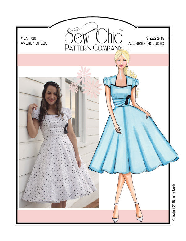Sew Chic Averly Dress Sewing Pattern by Sew Chic Pattern Company