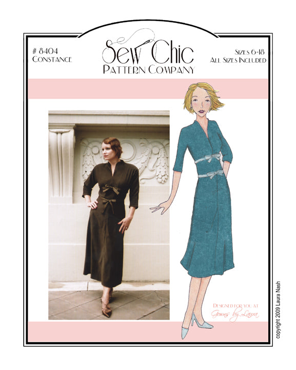 Constance Dress Sewing Pattern by Sew Chic Pattern Company