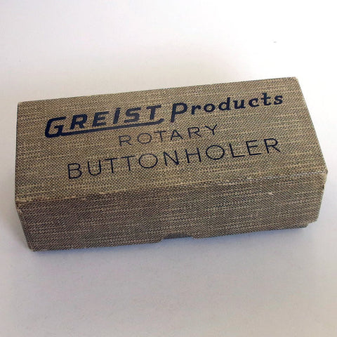 1956 Greist Rotary Buttonholer. Vintage Sewing Machine Attachment