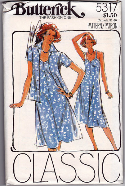 1970s Sundress Vintage Sewing Pattern Butterick 5317