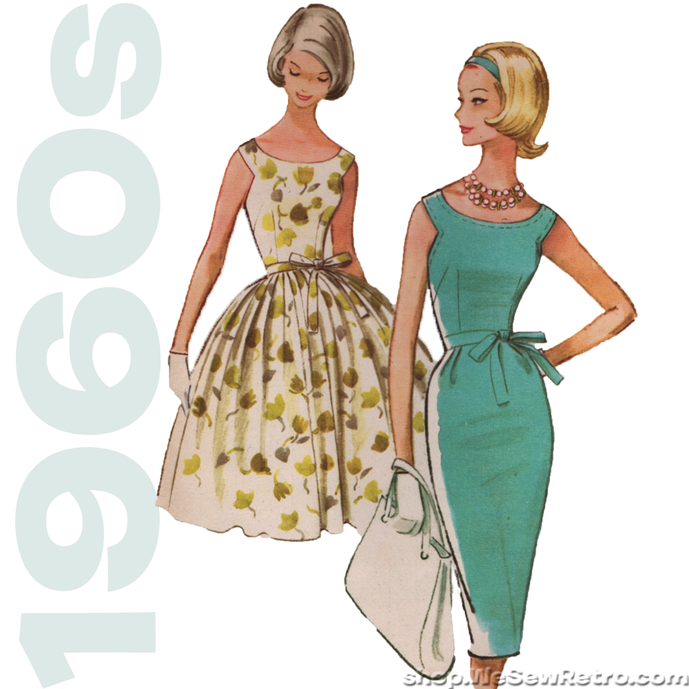 McCalls 5813 - 1960s Vintage Pattern - Scoop Neck Dress Sewing Pattern