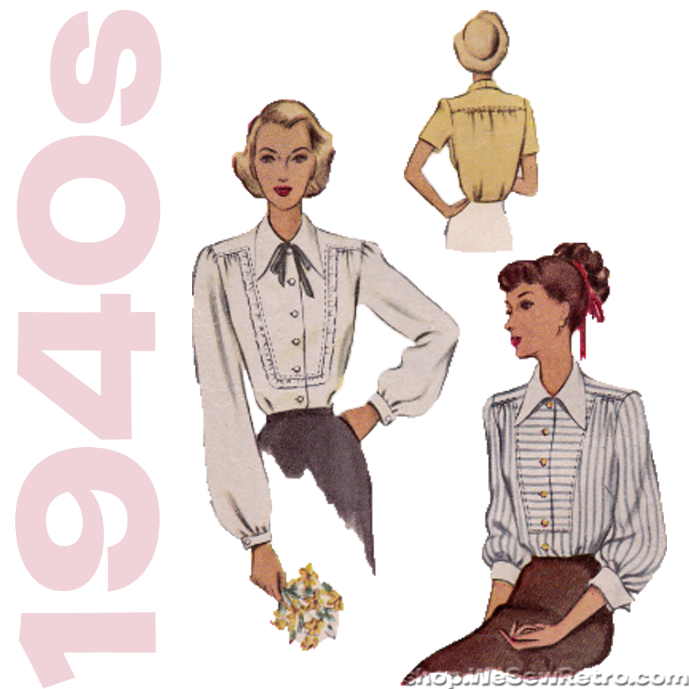 McCall 7238 - 1940s Blouse Vintage Sewing Pattern