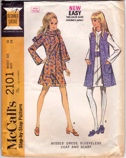 McCalls 2101 Vintage Sewing Pattern - Dress & Coat