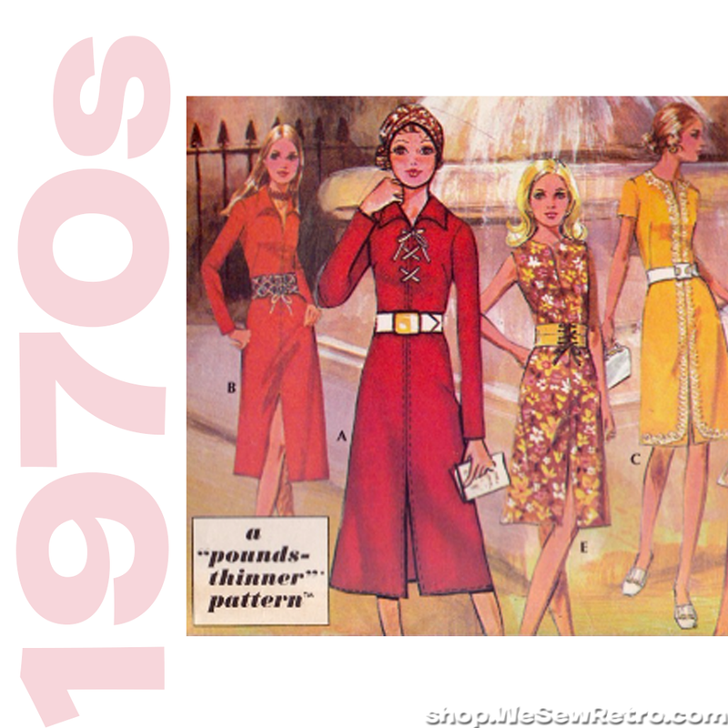 "McCalls F Vintage Sewing Pattern for Post Cereals - Five Dresses 36"" Bust"