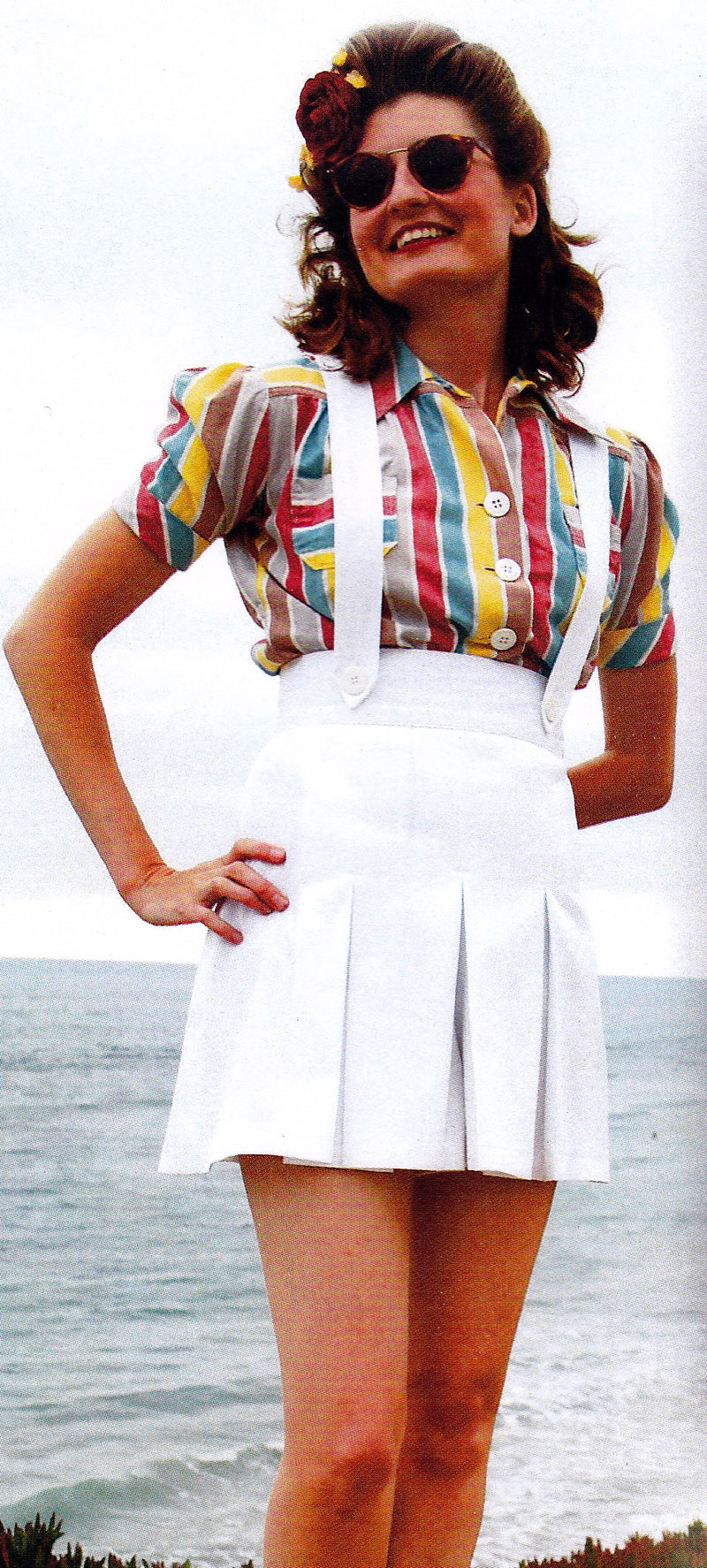 Rita Pleated Suspender Shorts Sewing Pattern