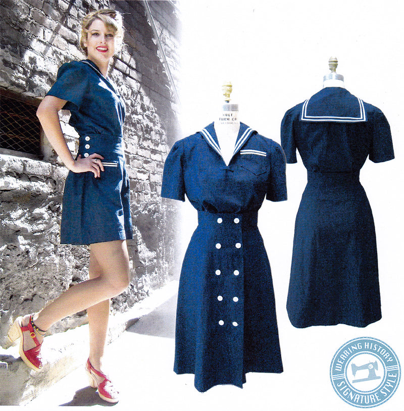 Wearing History Sailor Girl Playsuit Sewing Pattern