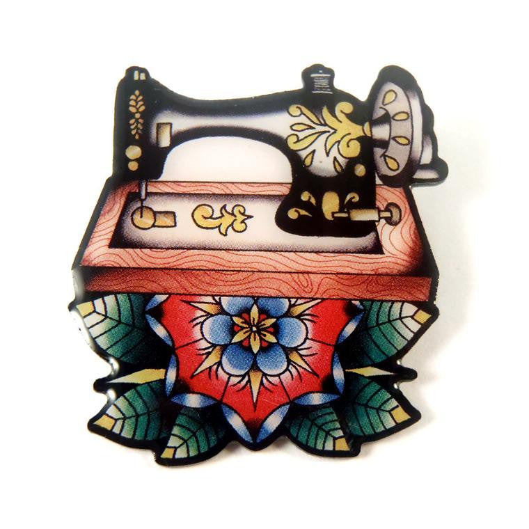 Sew Lovely Vintage Sewing Machine Brooch
