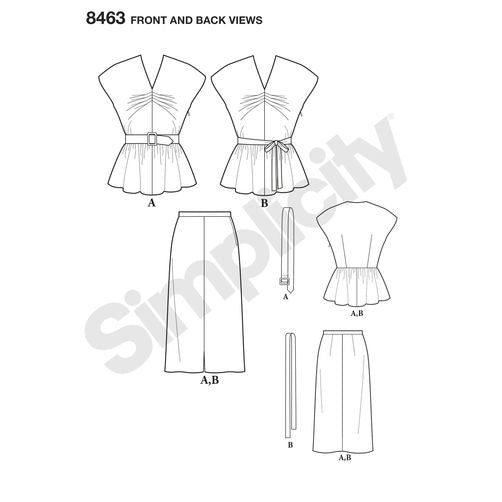 Simplicity 8463 1940s Two-Piece Vintage Dress Paper Sewing Pattern