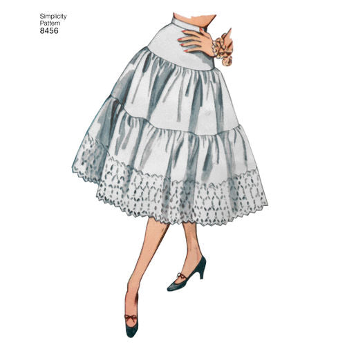 Simplicity 8456 Vintage Petticoats and Slip - 1950s Paper Sewing Pattern
