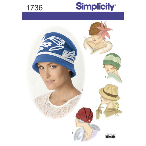 Simplicity 1736 Vintage Hats Sewing Pattern