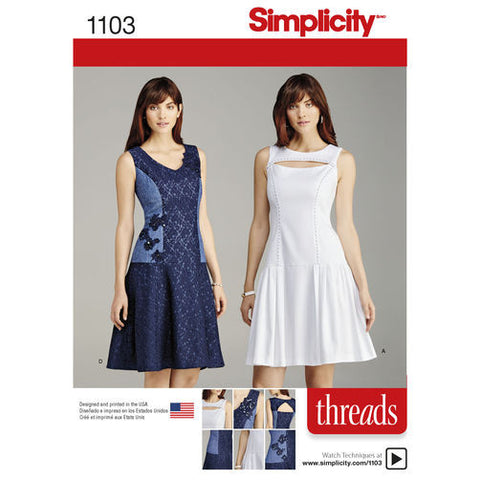Simplicity 1103 Princess Seam Dress Paper Sewing Pattern
