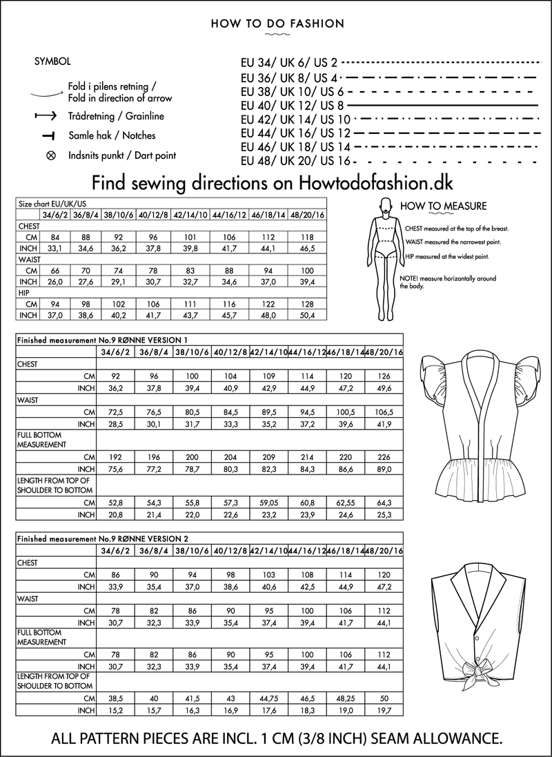 How to do Fashion Ronne Blouse PDF Sewing Pattern