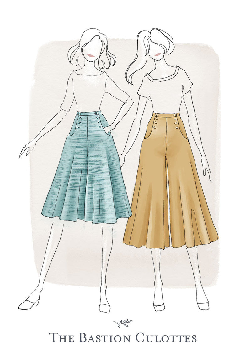 Jennifer Lauren Bastion Culottes PDF Pattern