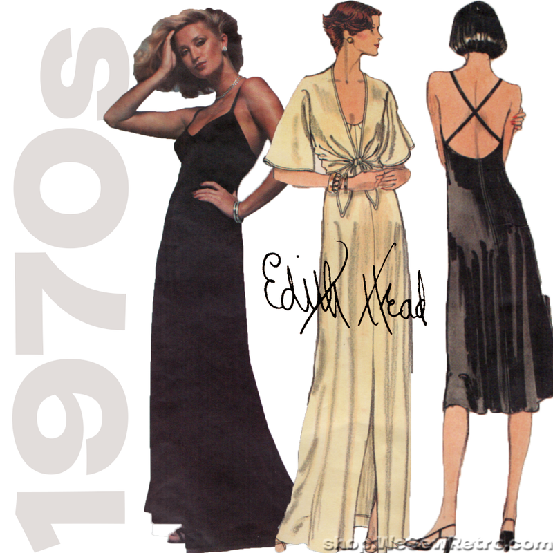 Vintage Vogue Designer Original Pattern: Edith Head Evening Gown. Vogue 1560.