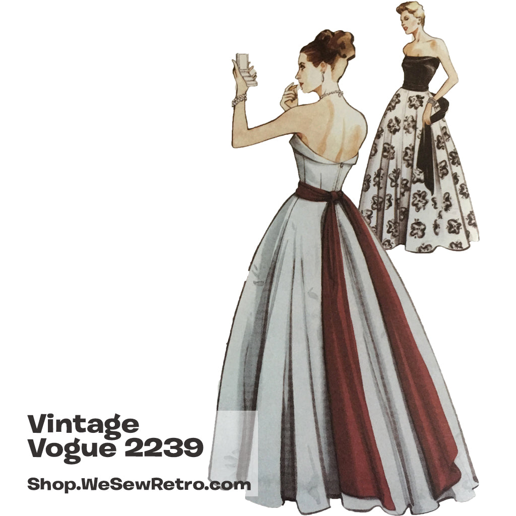 Vintage Vogue 2239 1950s Evening Gown Sewing Pattern – WeSewRetro