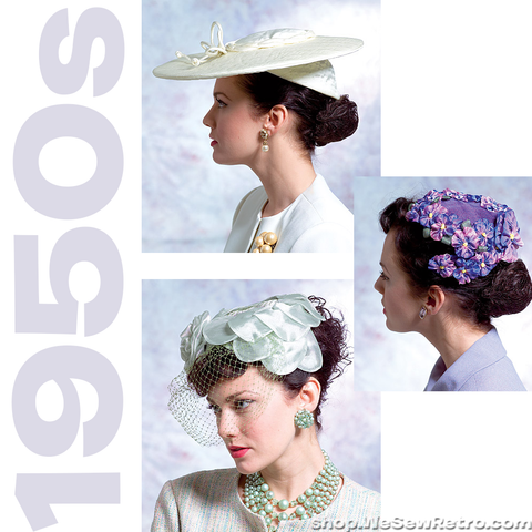 1950s Vintage Vogue Hats Sewing Pattern: Vintage Hats. Vogue V8052