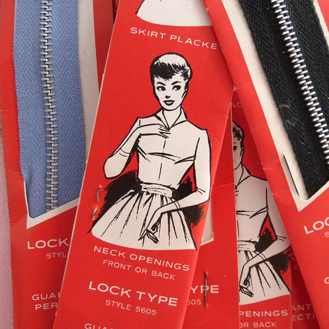 1950s Vintage Metal Zippers