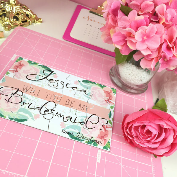 DIY: Bridesmaid Puzzle