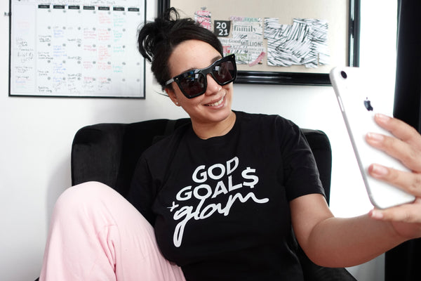 God, Goals & Glam [Black] Unisex T-shirt
