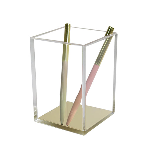 Luxe Acrylic Pen Holder -  Gold (PRE-ORDER ONLY), Acrylic Stationary - Glam & Co