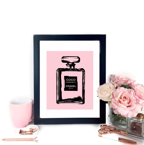 Coco Chanel Inspired Printable Art - Pink