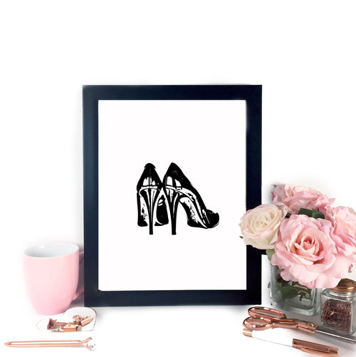 Fancy Heels Printable Art, Printable Art - Glam & Co