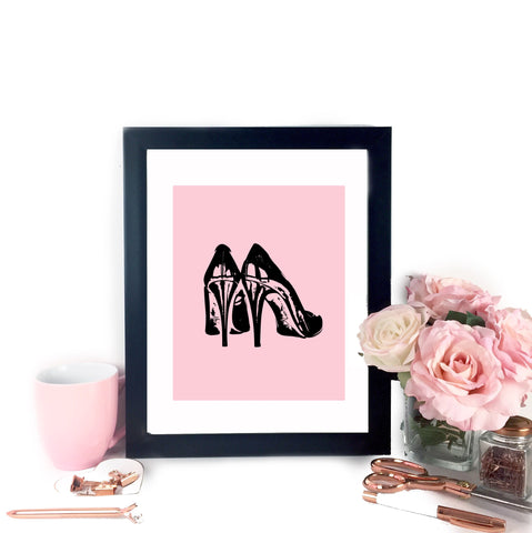 Fancy Heels Printable Art - Pink