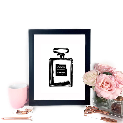 Coco Chanel Inspired Printable Art,  - Glam & Co