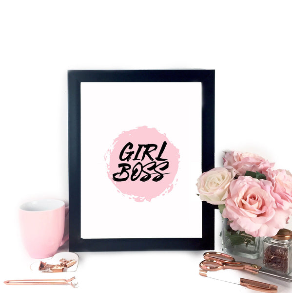 Girl Boss Printable Art,  - Glam & Co
