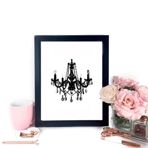 Chandelier Printable Art - Letter Size, Art - Glam & Co