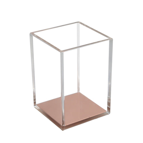 Rose Gold Acrylic Stationary Pen Holder
