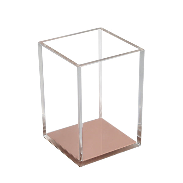Luxe Acrylic Pen Holder - Rose Gold (PRE-ORDER ONLY), Acrylic Stationary - Glam & Co