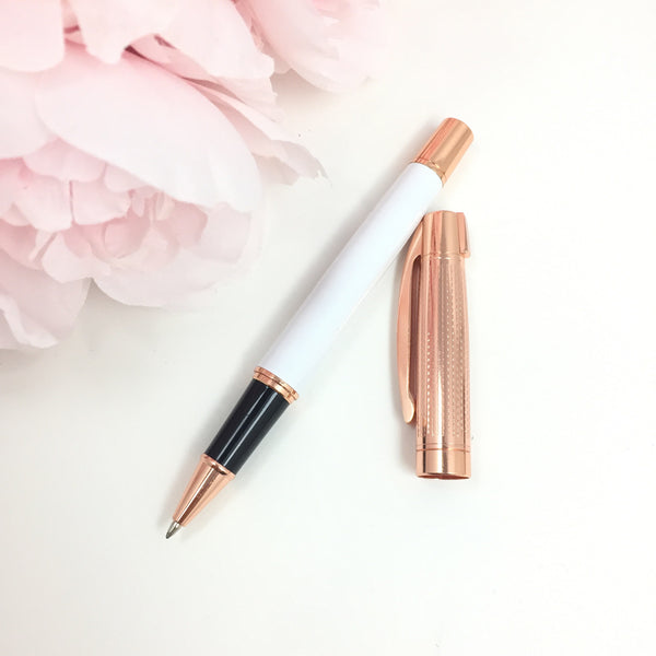 Rose Gold Luxe Pen, Pen - Glam & Co