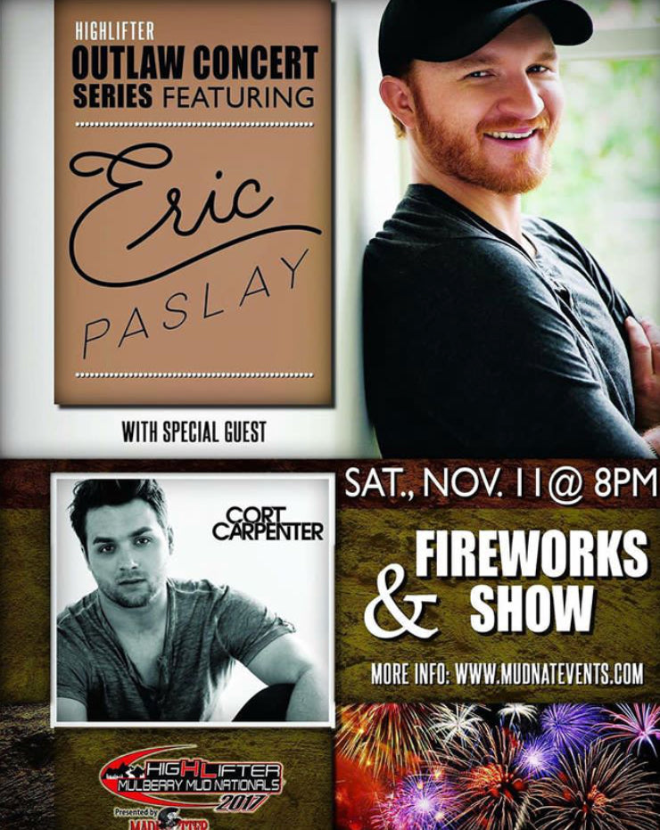 LIVE in Ozark, AR with Eric Paslay November 11th