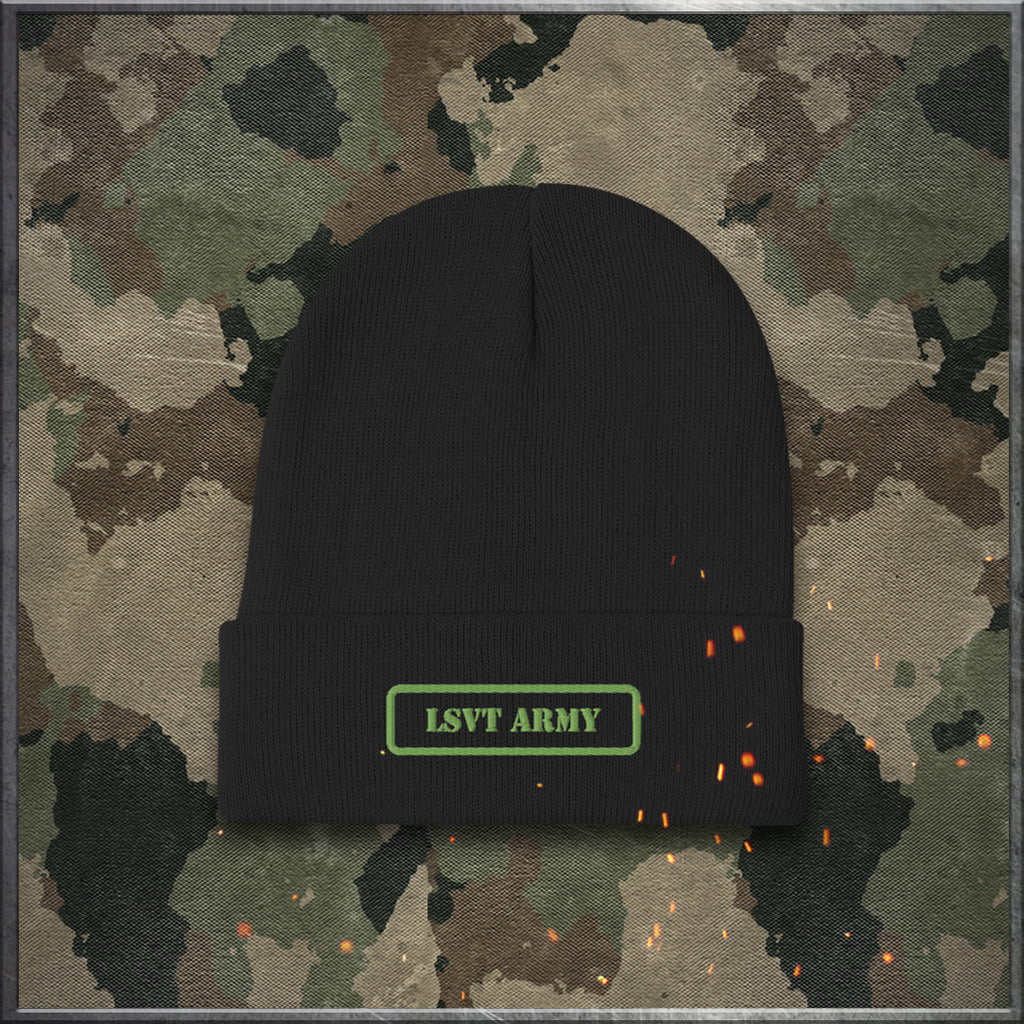 LSVT Army Embroidered Beanie