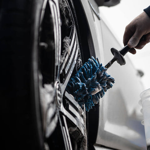 EZ Detail Wheel Brush cleaning inside wheel